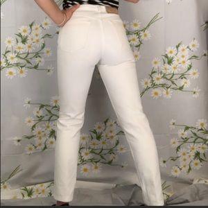 Vintage white denim skinny jeans